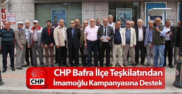 Bafra CHP Teşkilatından İmamoğlu'na tam destek