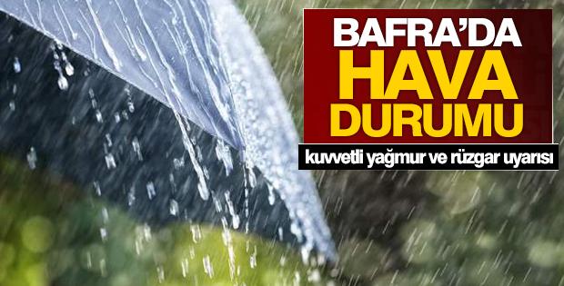 Bafra'da Kuvvetli Yağmur ve Rüzgar Uyarısı
