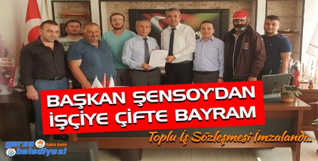 Başkan ŞENSOY'dan İşçiye Çifte Bayram