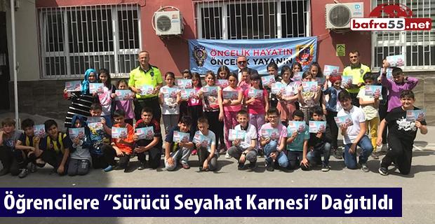 Öğrencilere ''Sürücü Seyahat Karnesi'' Dağıtıldı