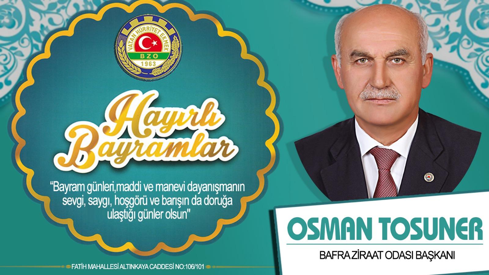 Osman Tosuner Bayram Tebriği