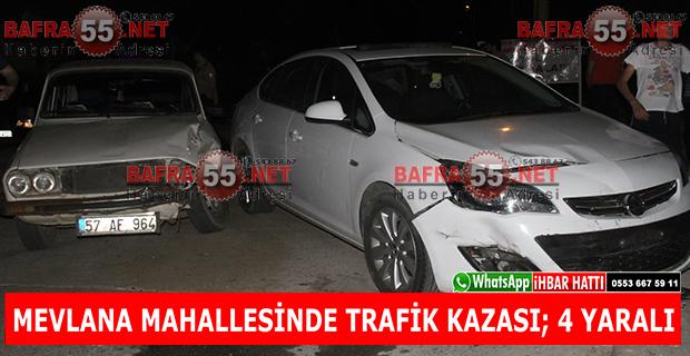 Mevlana Mahallesinde Trafik Kazası; 4 Yaralı