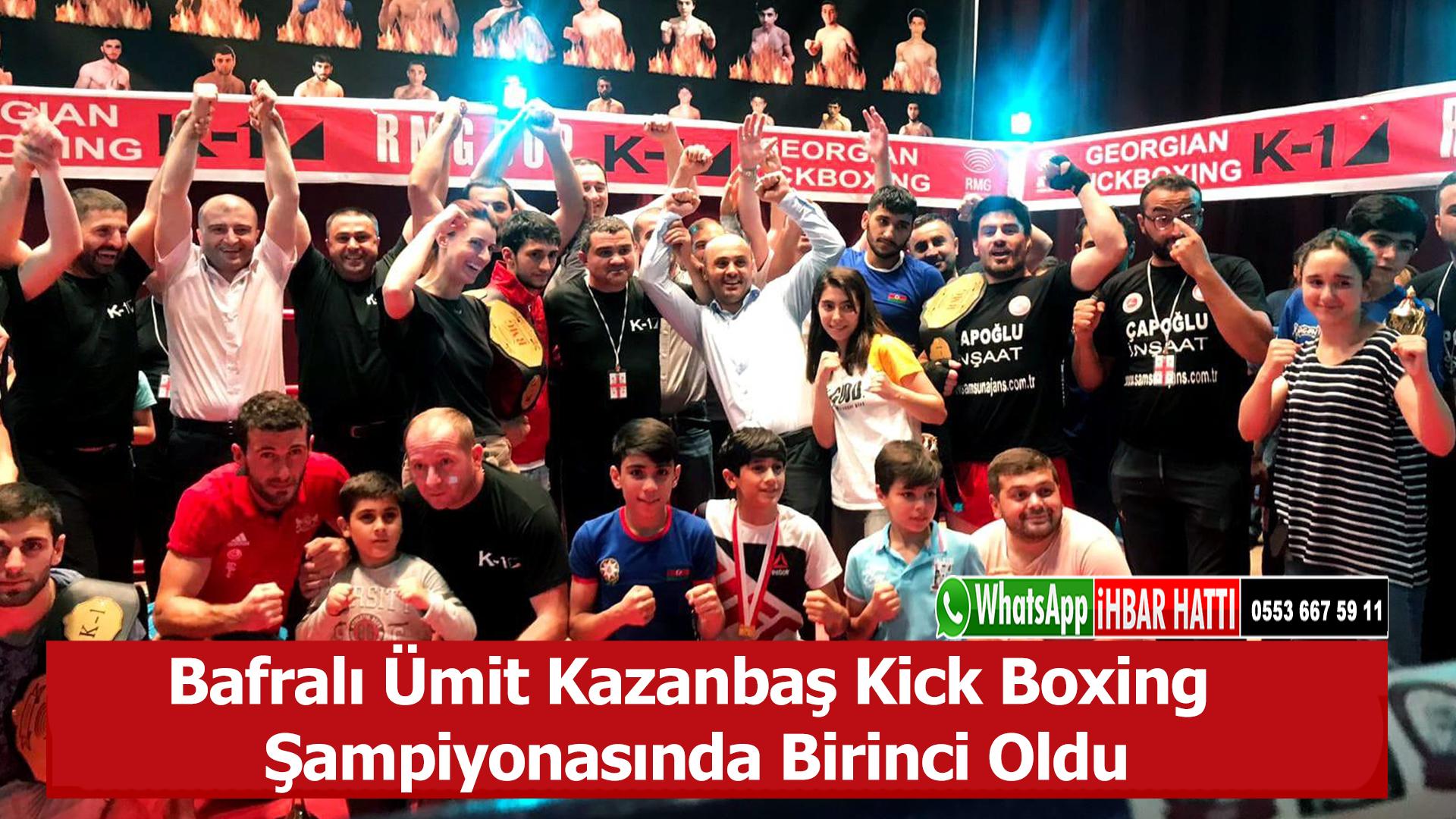 Bafralı Ümit Kazanbaş Kick Boxing Şampiyonasında Birinci Oldu