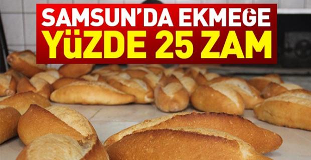 Samsun'da Ekmeğe Yüzde 25 Zam