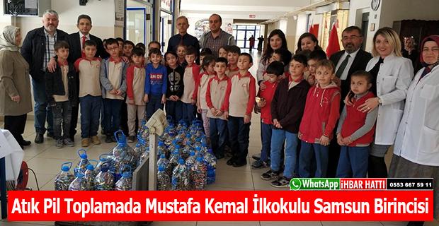 Atık Pil Toplamada Mustafa Kemal İlkokulu Samsun Birincisi
