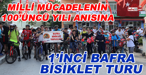 Bafra'da 1'inci Halk Bisiklet Turu
