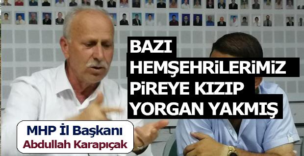 MHP il Başkanı Karapıçak: 31 Mart'ı Telafi Etme Şansı Doğmuştur