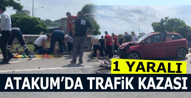 Atakum'da Trafik Kazası 1 Yaralı