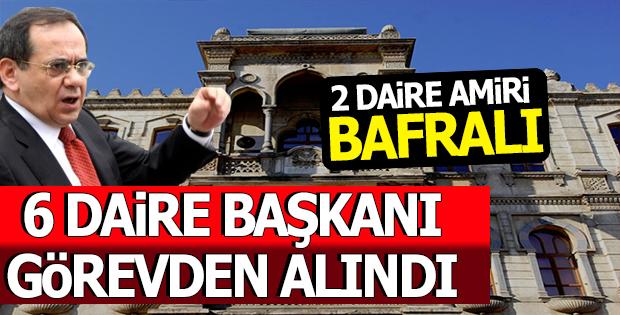 Samsun'da 6 Daire Başkanı Görevden Alındı