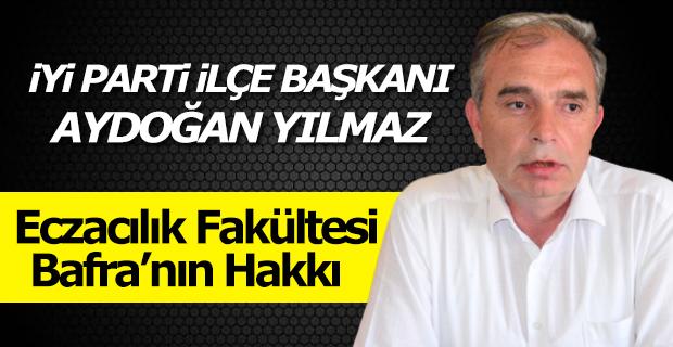 Aydoğan, Eczacılık Fakültesini Bafra'ya Vermemek için Kamuoyu Oluşturuyorlar
