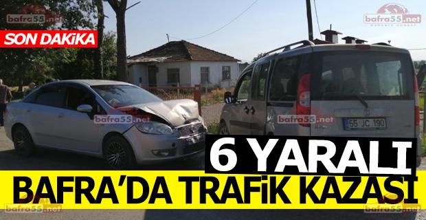 Bafra'da Trafik Kazası 6 Yaralı
