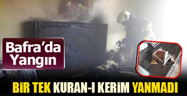 Bafra'da Yangın Bir Tek Kuran-ı Kerim Yanmadı!