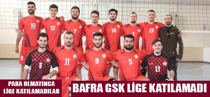 Bafra Belediye GSK Voleybol Takımı Lige Katılamadı