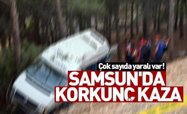 Samsun'da korkunç kaza, Çok sayıda yaralı var