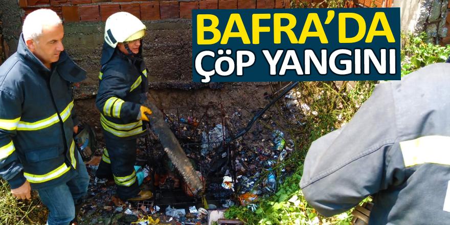 Bafra'da Çöp Yangını