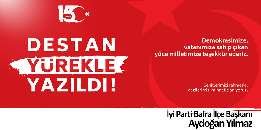İYİ Partiden 15 Temmuz Basın Açıklaması