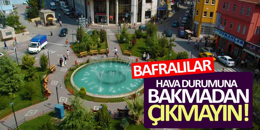 Bafra'da Bugün Hava Durumu