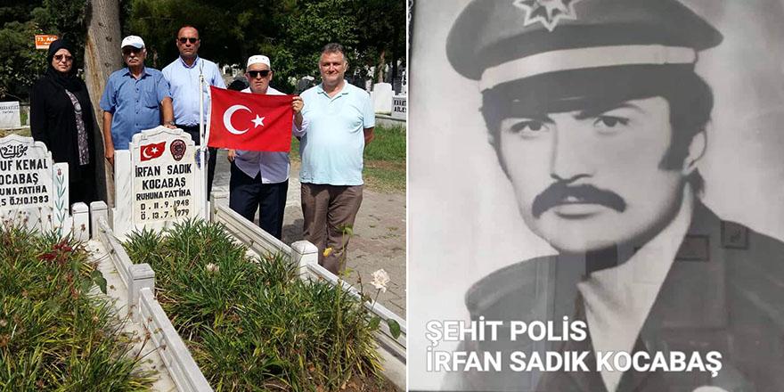 ŞEHİT POLİS İRFAN SADIK KOCABAŞ KABRİ BAŞINDA ANILDI