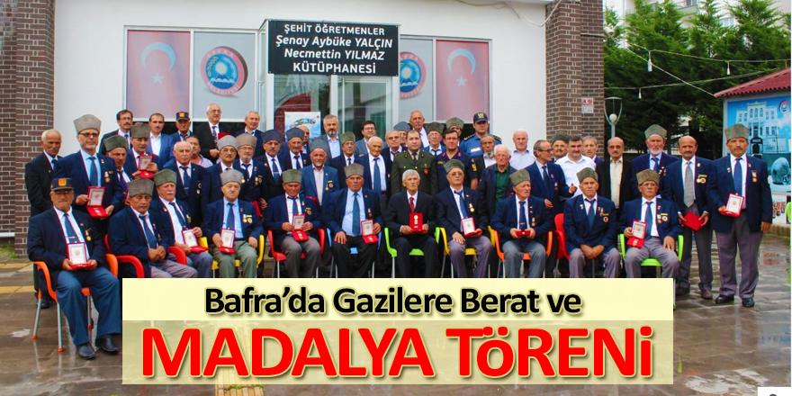 Bafra'da Gazilere Berat ve Madalya Töreni