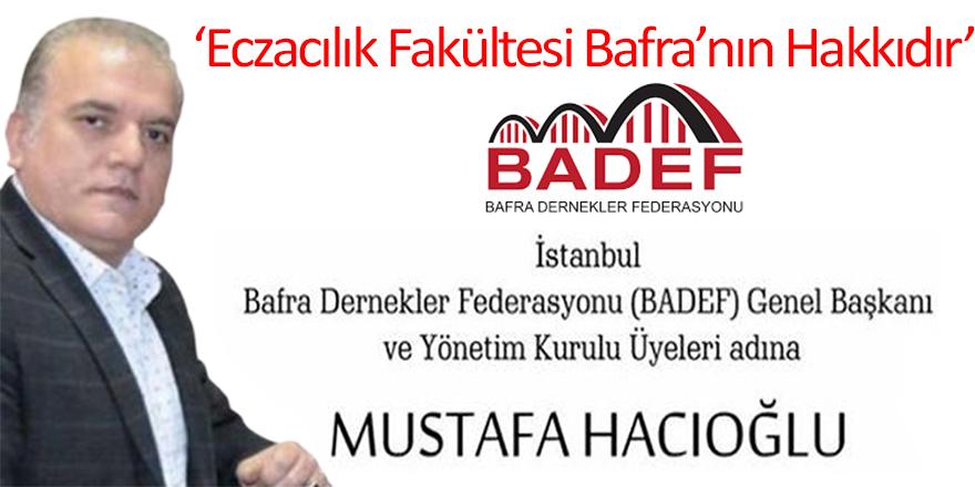 BADEF'ten Basın Açıklaması; Bugün Birlik Günüdür!