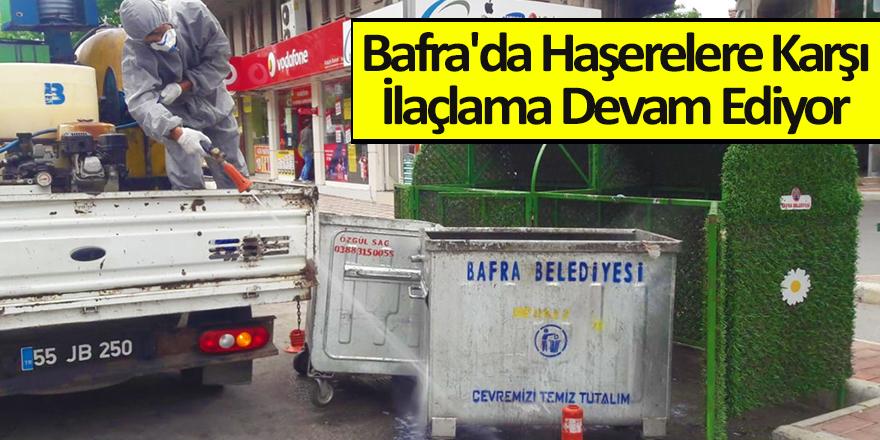 Bafra'da Haşerelere Karşı İlaçlama Devam Ediyor
