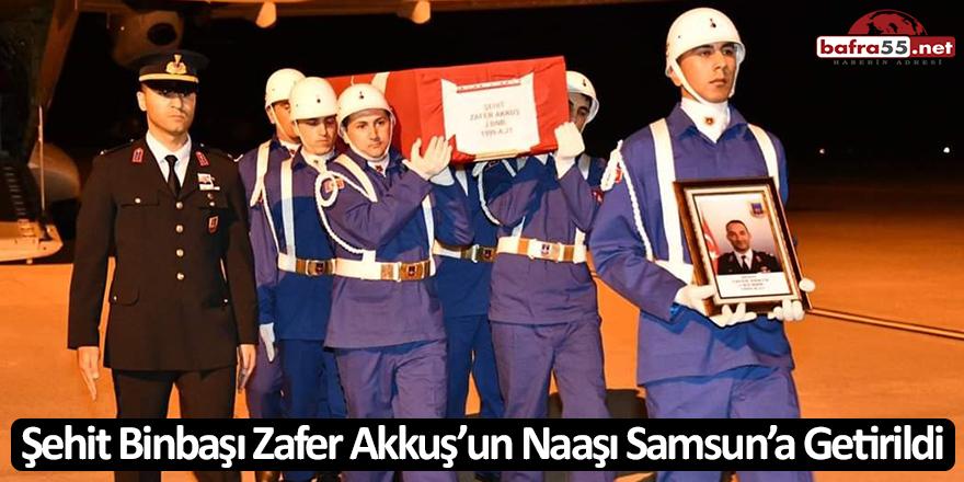 Şehit Binbaşı Zafer Akkuş'un Naaşı Samsun'a Getirildi