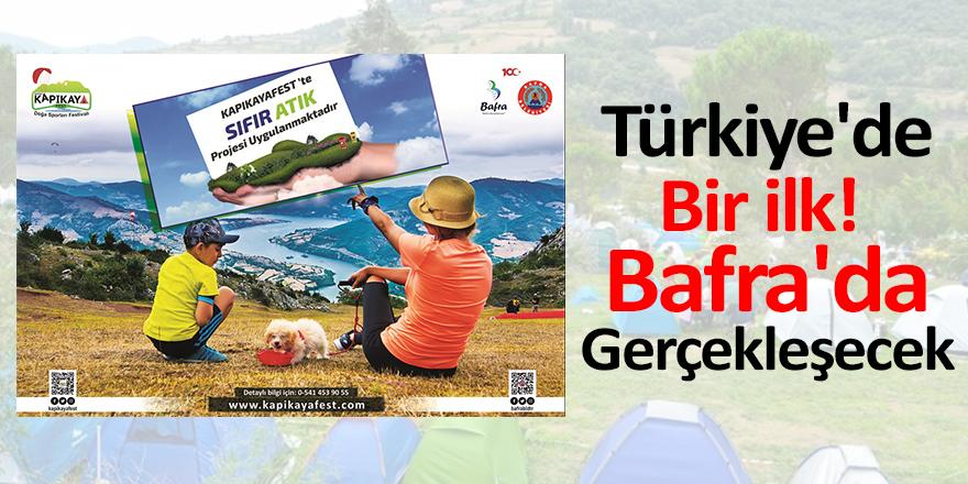 Türkiye'de Bir ilk! Bafra'da Gerçekleşecek
