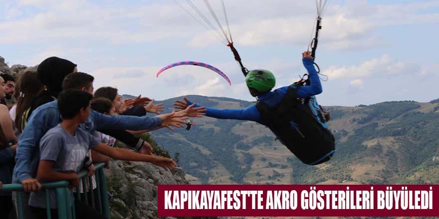 KAPIKAYAFEST'TE AKRO GÖSTERİLERİ BÜYÜLEDİ