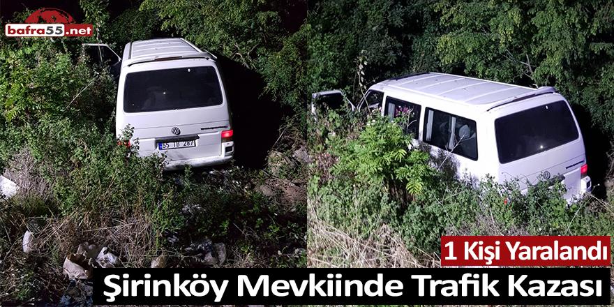 Şirinköy Mevkiinde Trafik Kazası; 1 Yaralı
