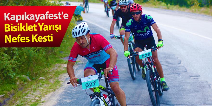 Kapıkayafest'e Bisiklet Yarışı Nefes Kesti