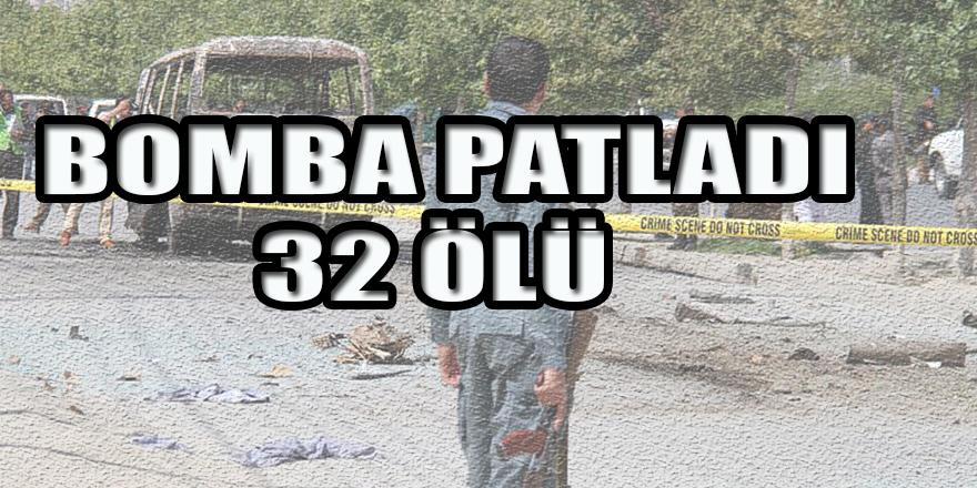 AFGANİSTAN'DA BOMBA PATLADI:32 ÖLÜ