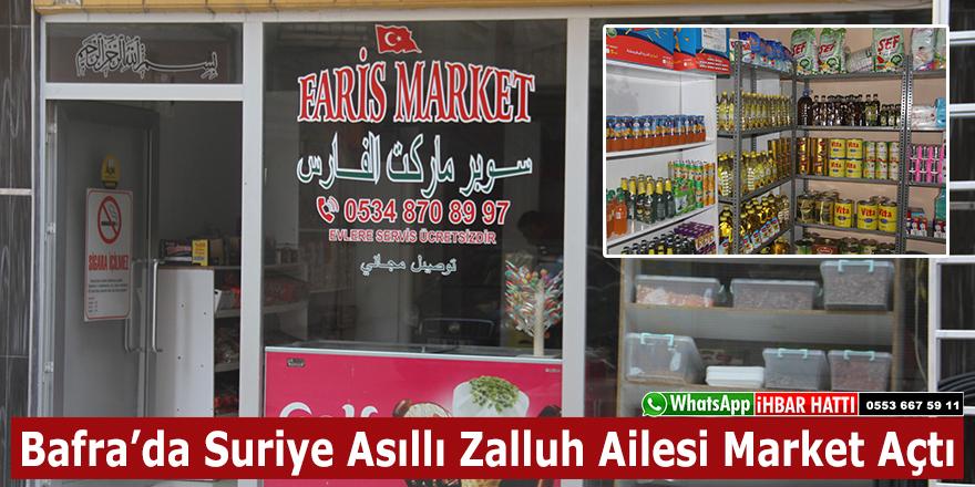 Bafra'da Suriye Asıllı Zalluh Ailesi Market Açtı!