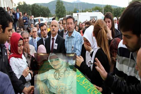 Samsun'da genç kız gözyaşları ile uğurlandı