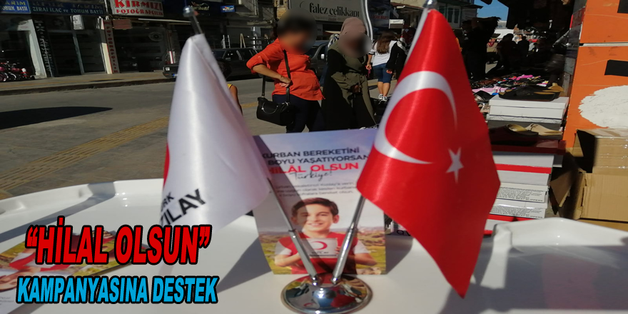 """Bafra Türk Kızılayı Bafra Şubesi'nden """"Hilal Olsun"""" kampanyasına destek"""