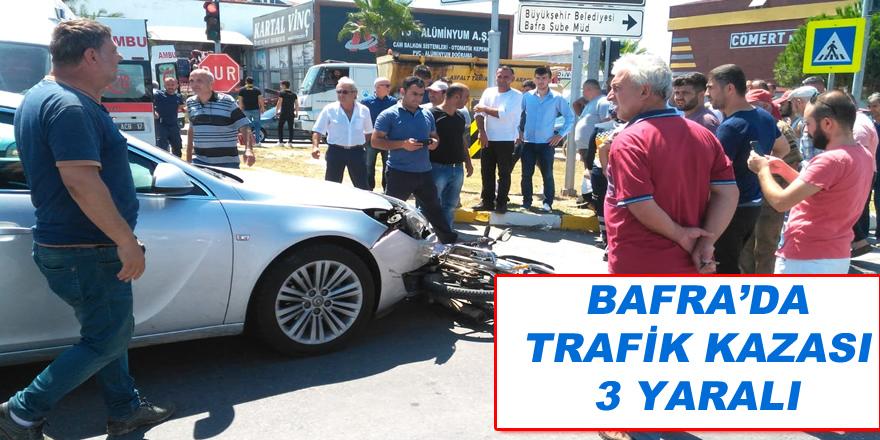 Bafra'da Trafik Kazası; 3 yaralı