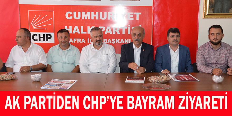 AK Partiden CHP İlçe Teşkilatına Bayram Ziyareti