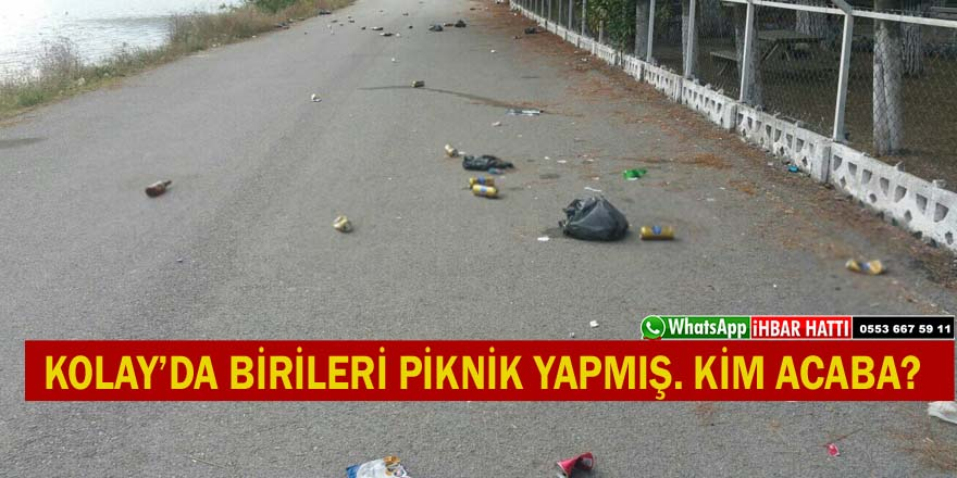 KOLAY'DA SAHİL YOLUNDA PİKNİK YAPMIŞLAR