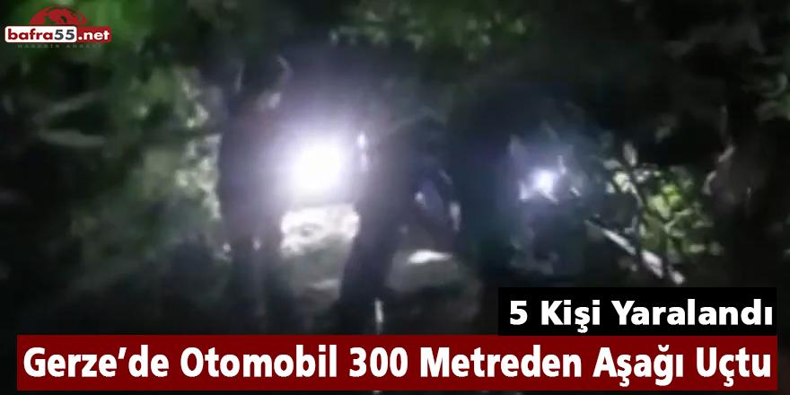 Gerze'de Otomobil 300 Metreden Aşağı Uçtu