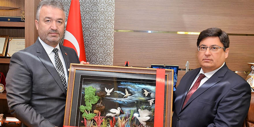 Başkan Topaloğlun'dan Yeni Başsavcı Kılıç'a Ziyaret.
