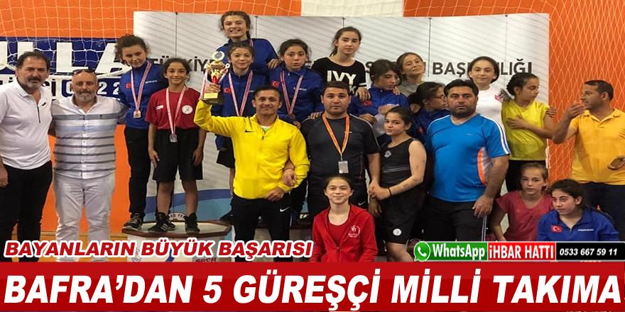 Bafralı 5 kadın güreşçi Milli Takıma Seçmelere Gitmeye Hak Kazandı