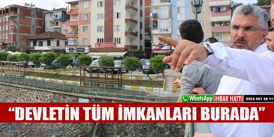 """AK PARTİ SEL BÖLGESİNDE: """"YARALARI HIZLA SARACAĞIZ"""""""
