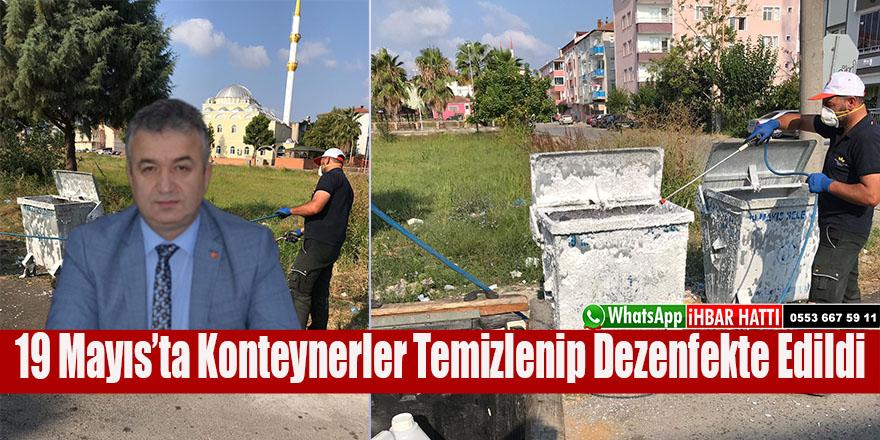 Kurban Bayramı sonrası 19 Mayıs'ta Konteynerler Temizlenip Dezenfekte Edildi.