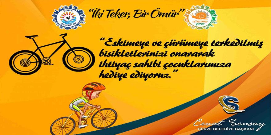 """""""İKİ TEKER, BİR ÖMÜR"""" PROJESİ HAYATA GEÇTİ"""