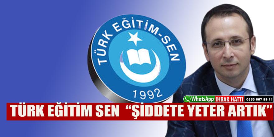 """TÜRK EĞİTİM SEN """"ŞİDDETE YETER ARTIK"""""""