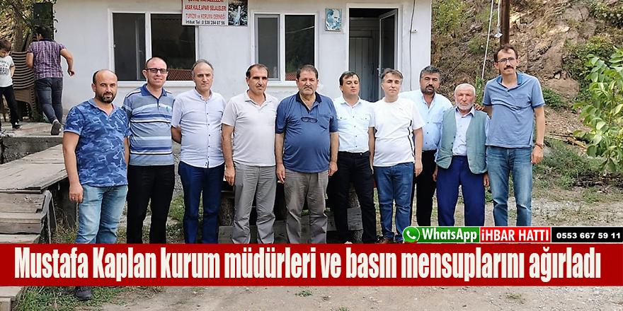 Mustafa Kaplan kurum müdürleri ve basın mensuplarını ağırladı
