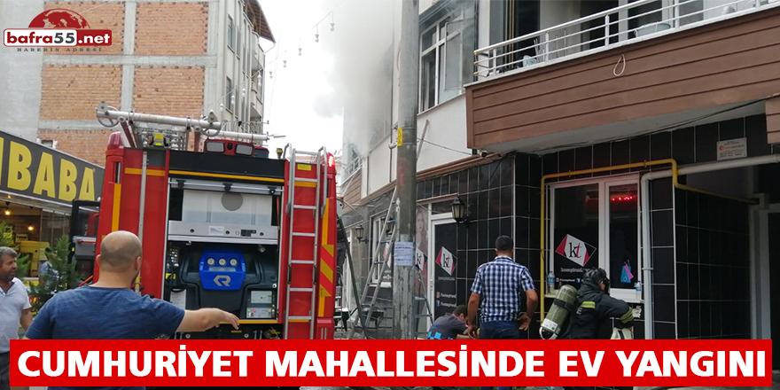 CUMHURİYET MAHALLESİNDE EV YANGINI