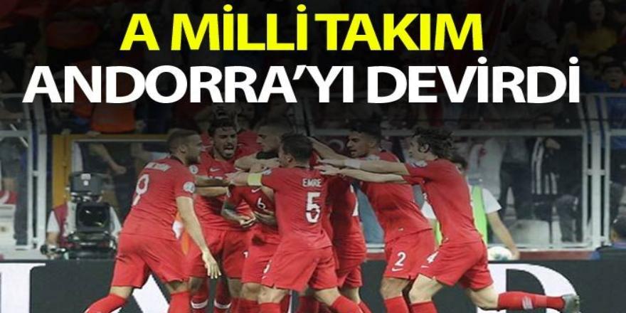 Türkiye Andorra'yı  son dakika golüyle yendi