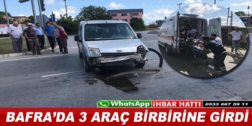 Kolay Kavşağında Trafik Kazası ; 1 Yaralı