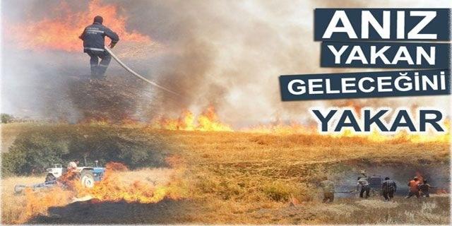 Alaçam'da Anız Yangını