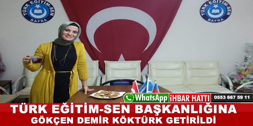 Türk Eğitim-Sen Bafra İlçe Başkanlığın'da Devir Teslim